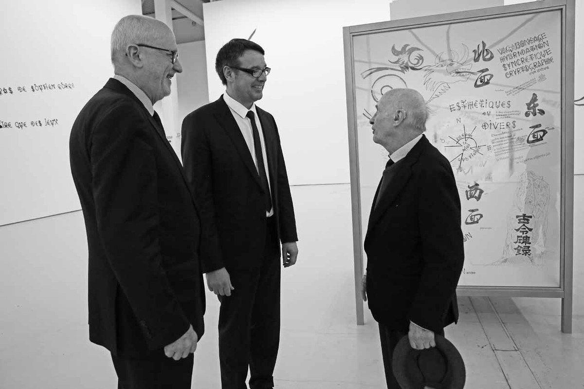 Lorand Hegyi, Robert Karulak, Jacques Villeglé