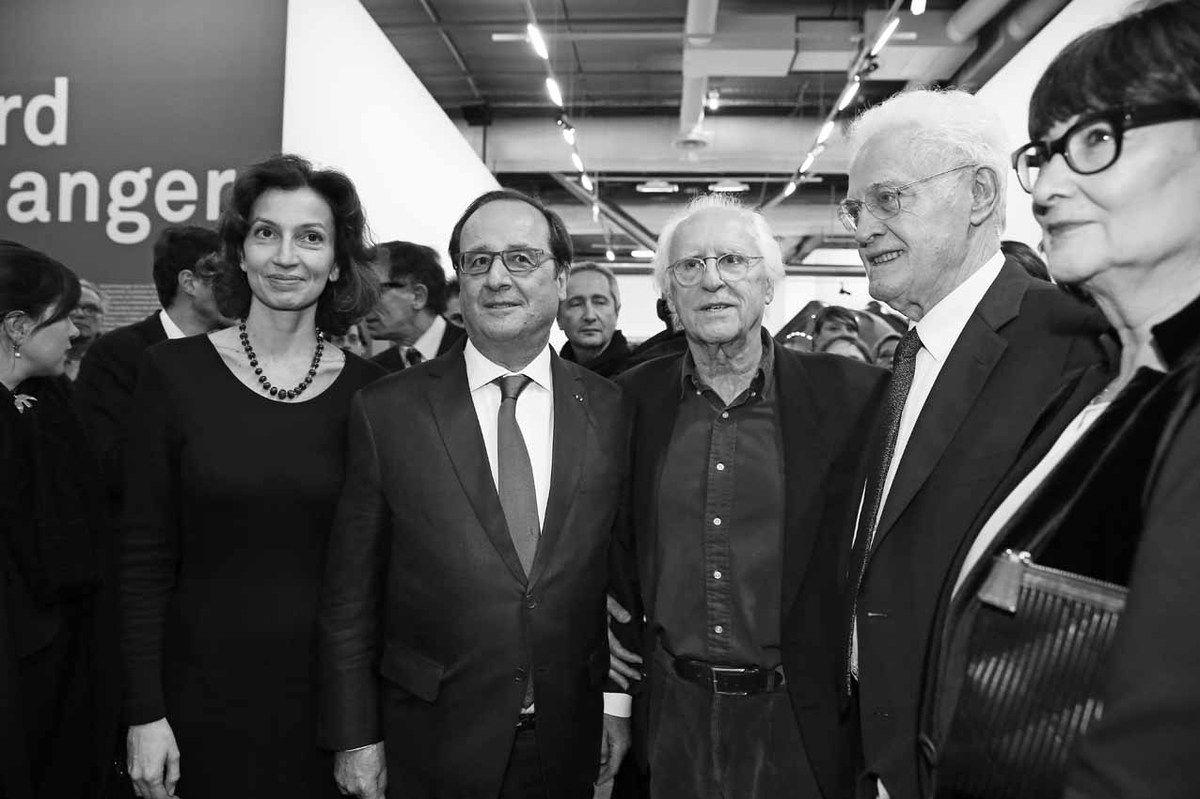 Audrey Azoulay, Serge Lasvignes, François Hollande, Bernard Blistène, Gérard Fromanger, Lionel Jospin, Sylviane Agacinski