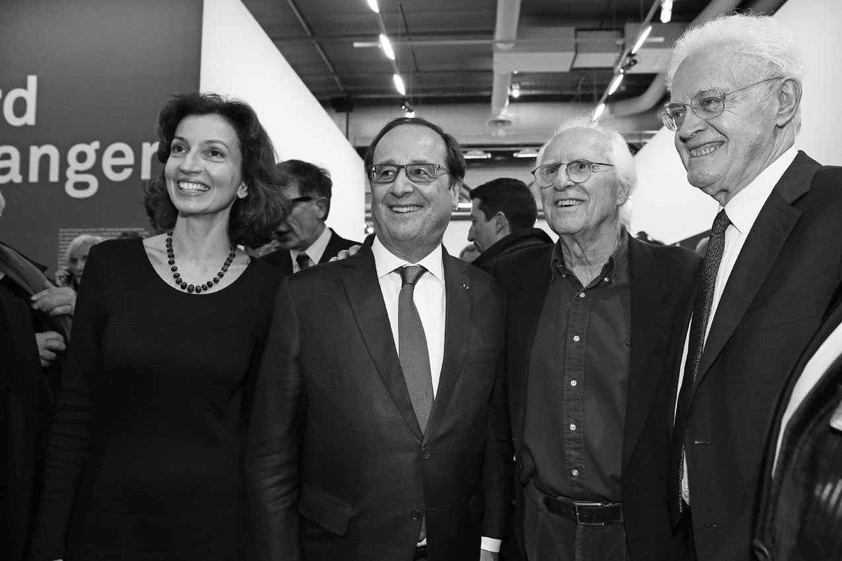 Audrey Azoulay, François Hollande, Gérard Fromanger, Lionel Jospin