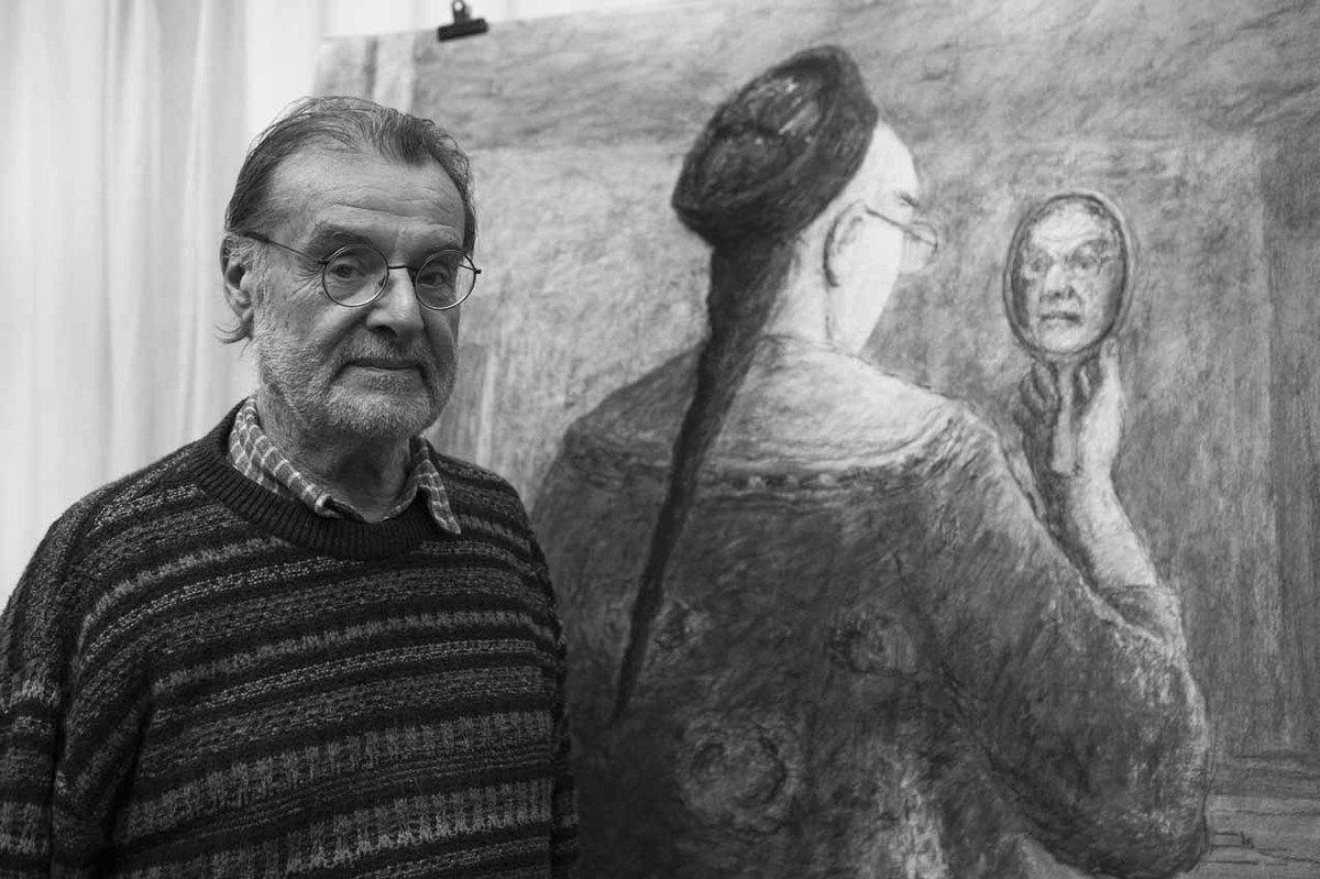 Olivier O. Olivier dans son atelier. Paris le 12 décembre 2007