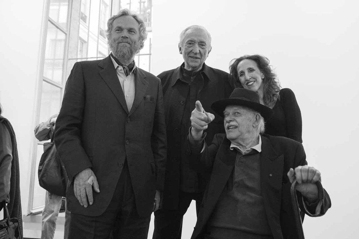Karsten Greve, Pierre Soulages, John Chamberlain, Prudence Fairweather. Vernissage de l'exposition John Chamberlain. Galerie Karsten Greve. Paris le 21 avril 2007