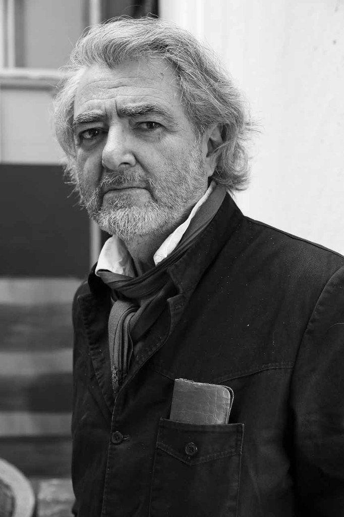 Ruben Alterio dans son atelier de Paris, le 29 décembre 2015