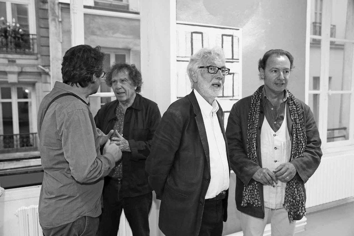 Pierre Wat, Alain Veinstein, Pierre Buraglio, Guy de Malherbe