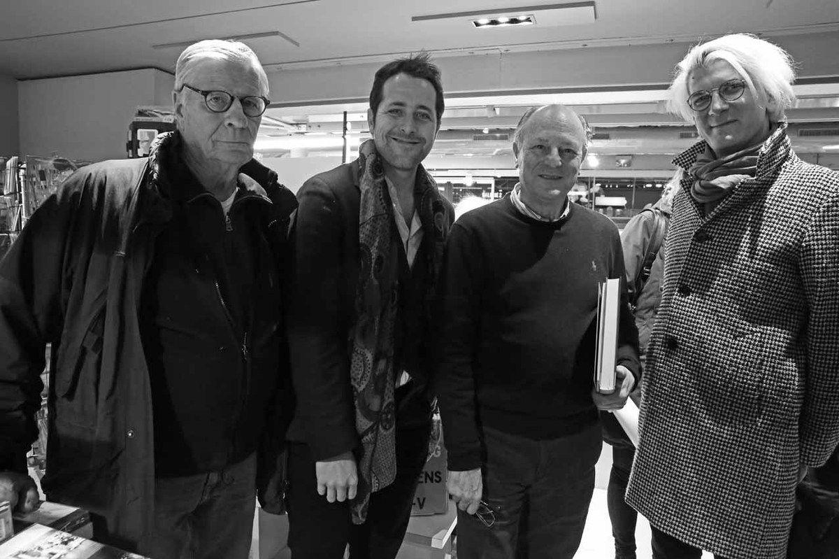 Louis Cane, Loïc Bénétière, Jean-Claude Gandur, Loïc Garrier