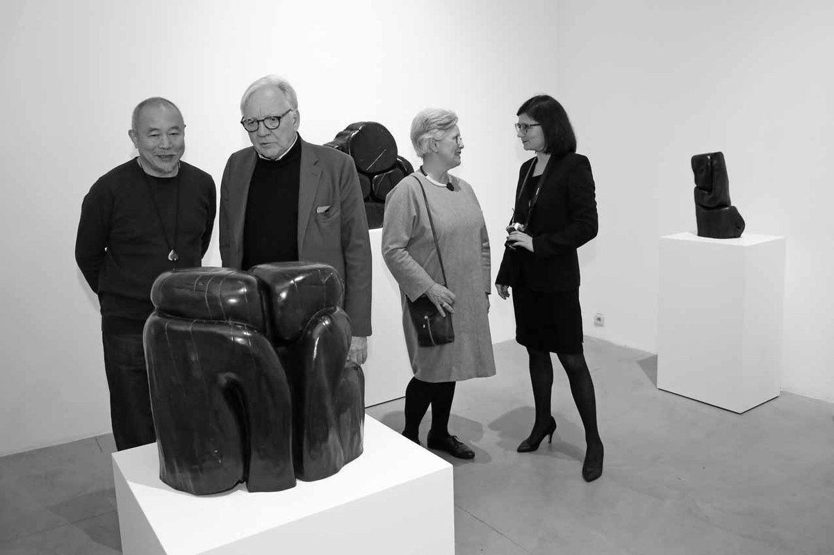 Wang Keping, Jacques Barrère, Marie-France Barrère, Aline Wang