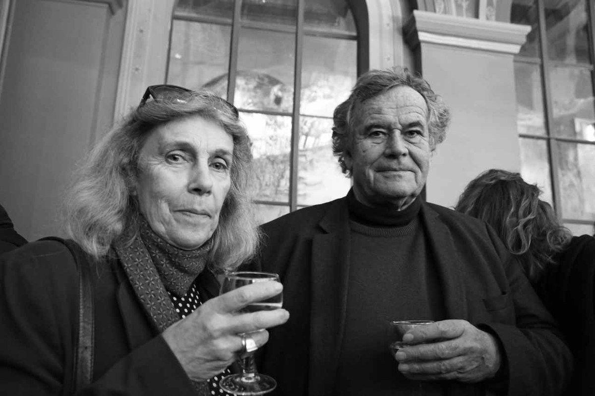 Caroline Barbey, Bruno Barbey. Vernissage de l'exposition Gérard Garouste. Ecole Nationale Supérieure des Beaux Arts. Paris le 15 mars 2018