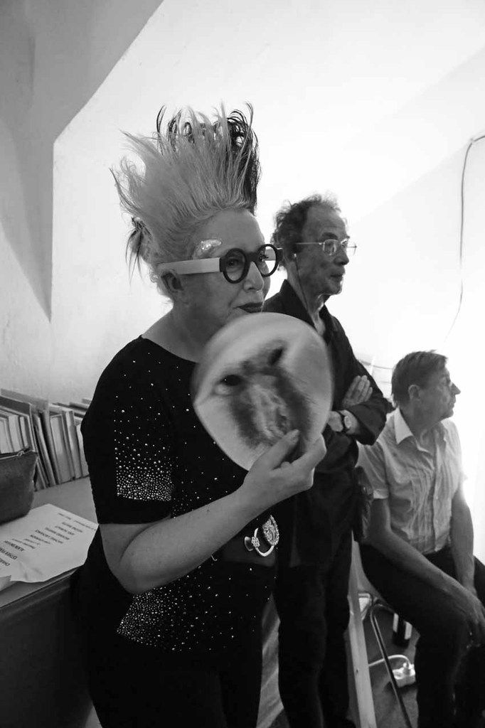Orlan, Jacques Donguy, Alain Snyers