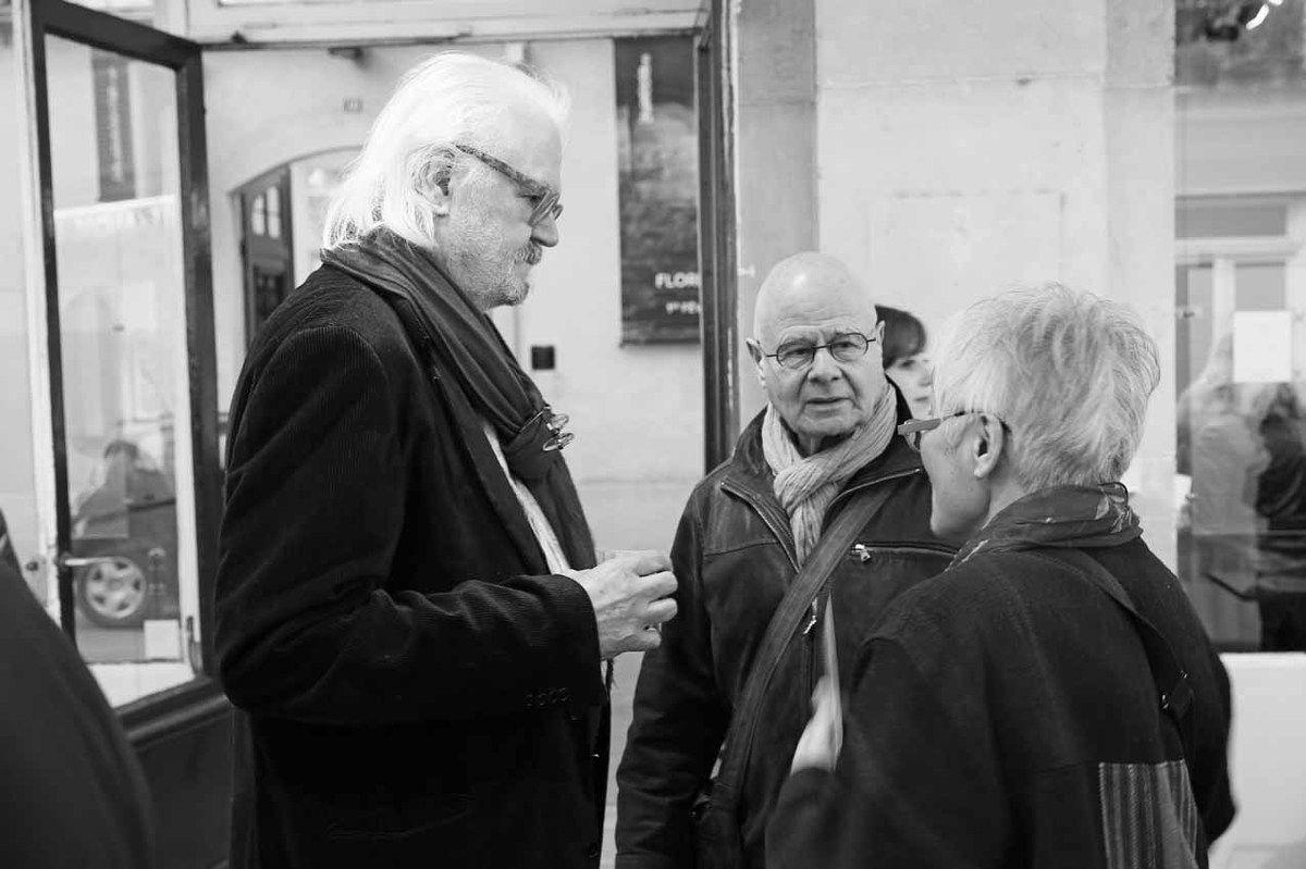 Jean Zuber, Jean-Pierre Viot, Haguiko. Vernissage de l'exposition Jean Zuber. Galerie Pascal Gabert. Paris le 11 mars 2014