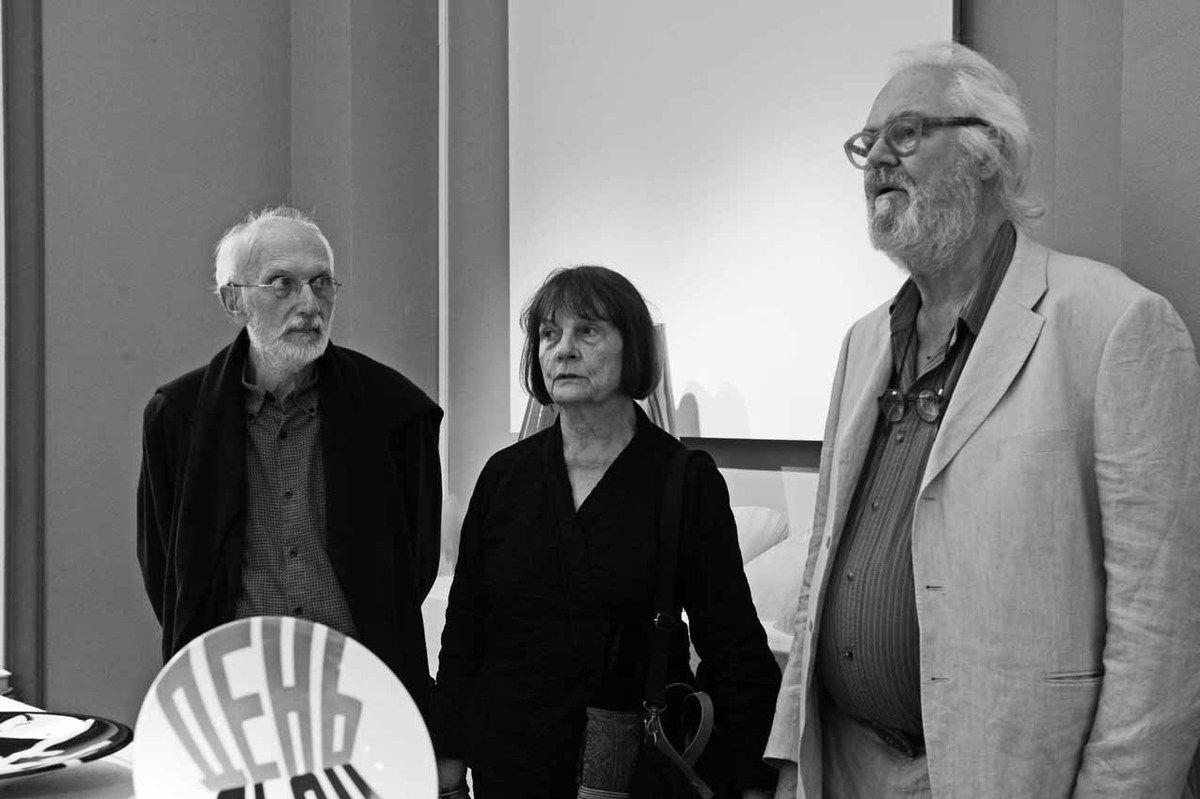 Claude Pasquer, Nadia Pasquer, Jean Zuber. Vernissage de l'exposition Kristin McKirdy. Sèvres Cité de la Céramique. Sèvres le 12 septembre 2012