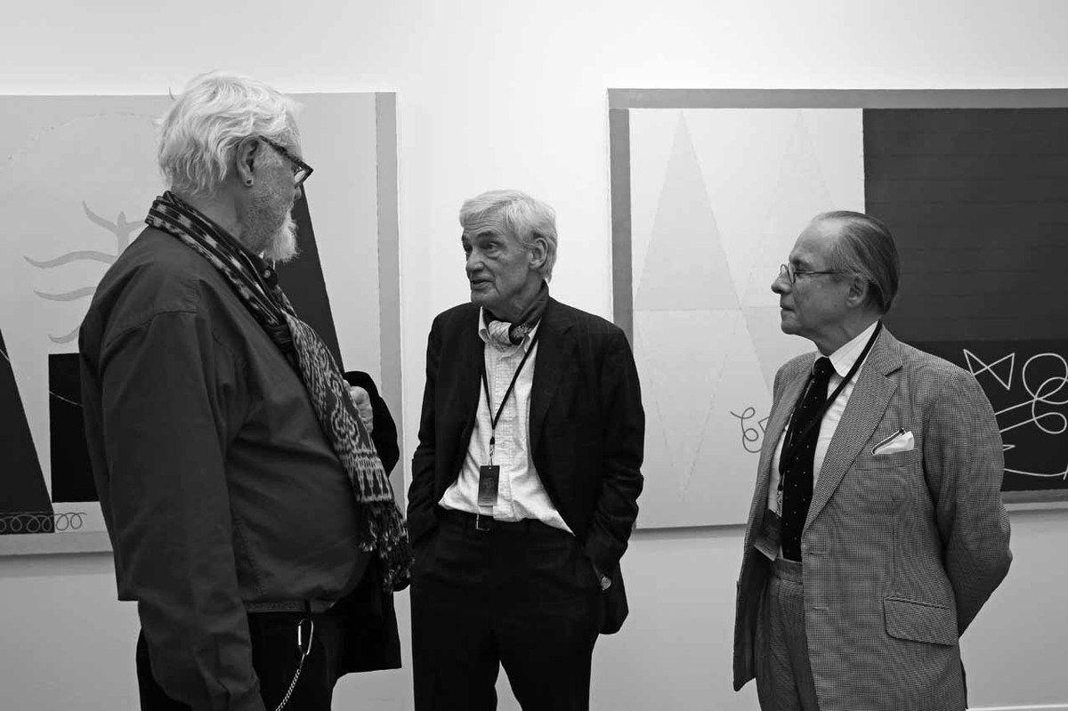 Jean Zuber, Pascal Gabert, Gilles Ghez. Vernissage du salon Art Paris. Grand Palais. Paris le 29 mars 2017