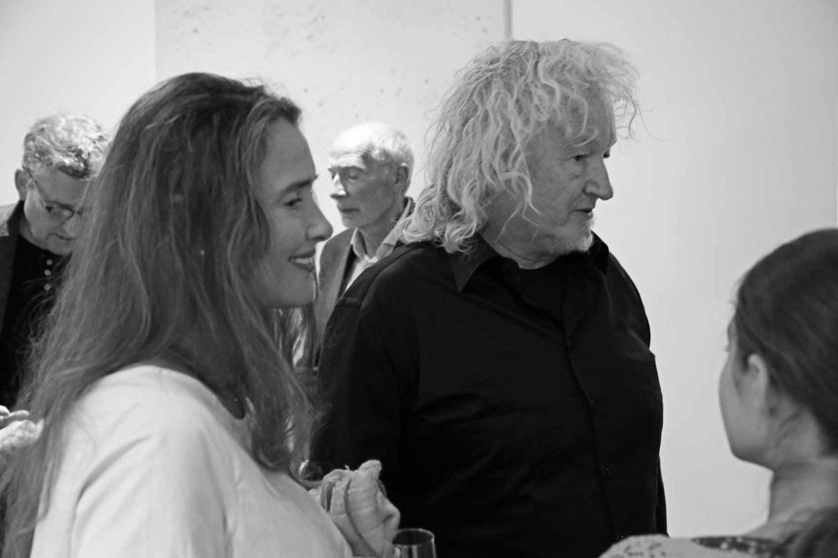 Lucy Carroll, Lawrence Carroll. Vernissage de l'exposition Lawrence Carroll. Galerie Karsten Greve. Paris le 9 septembre 2017