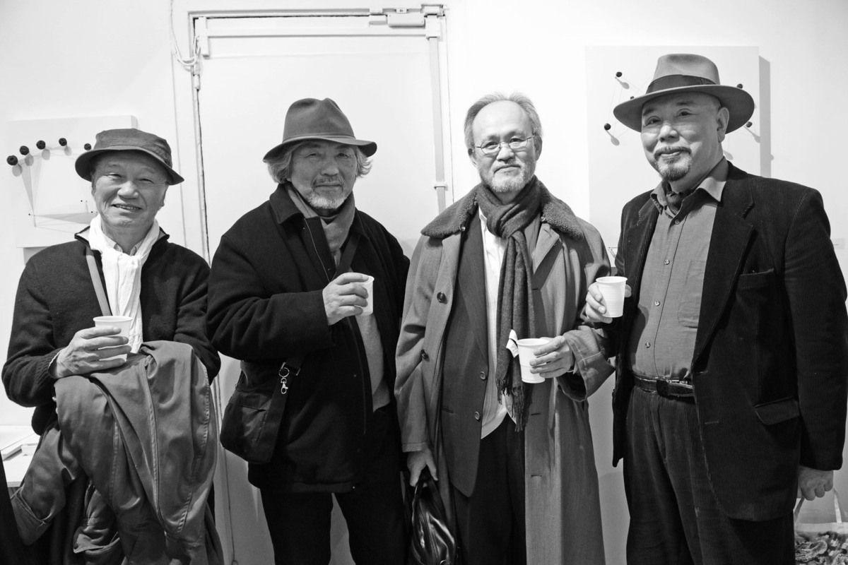 Inoue Yukichi, Kishida Katsuji, Inconnu, Haruhiko Sunagawa. Galerie Denise René Rive Gauche. Paris le 17 janvier 2013