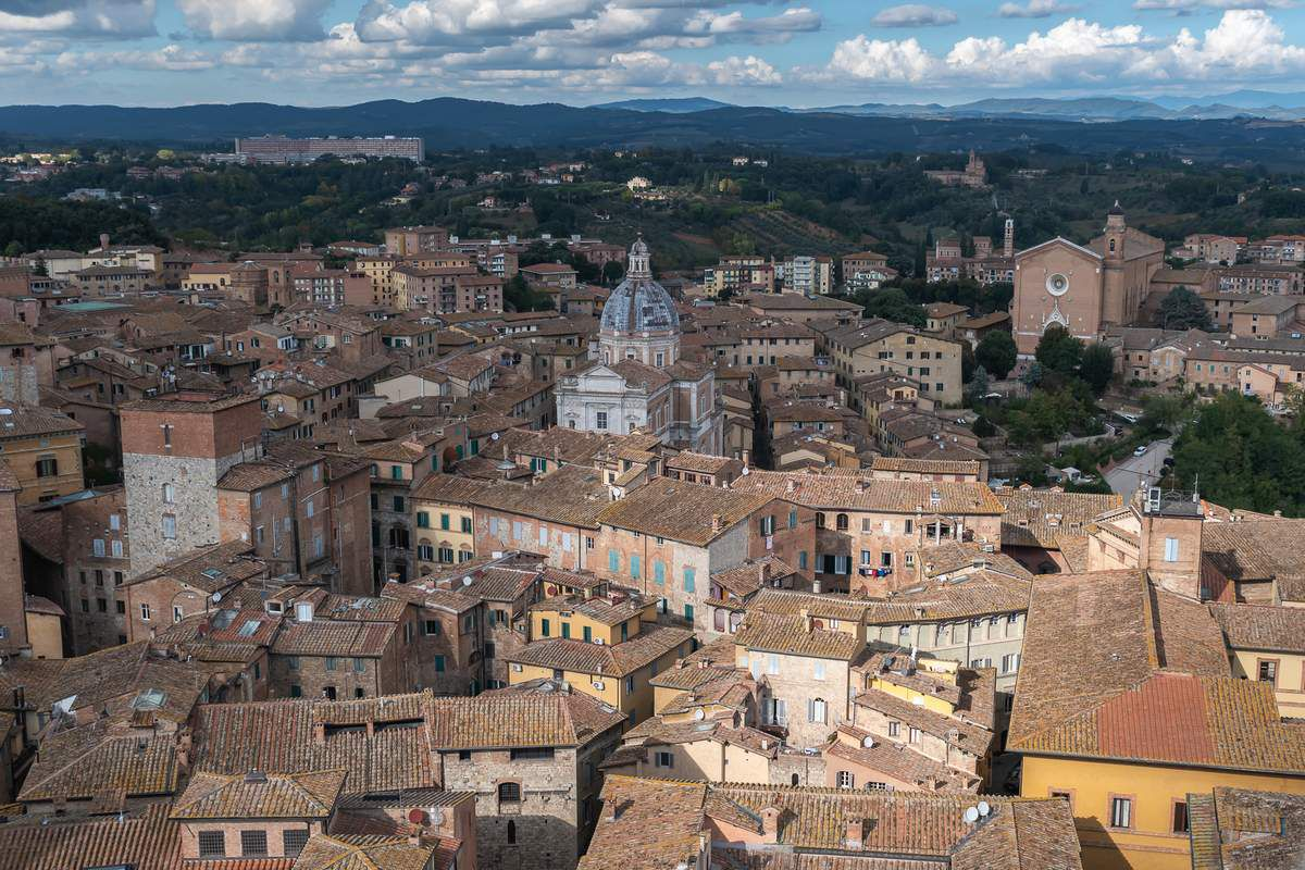 La Toscane    Sienne et Monteriggioni