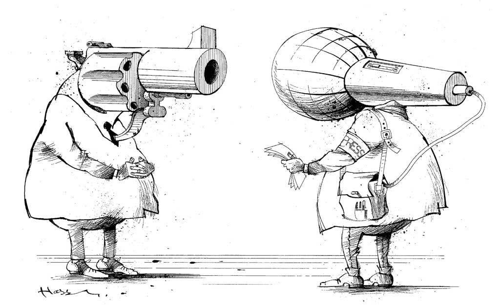 Dessin sur la liberté de la presse (C) CGT