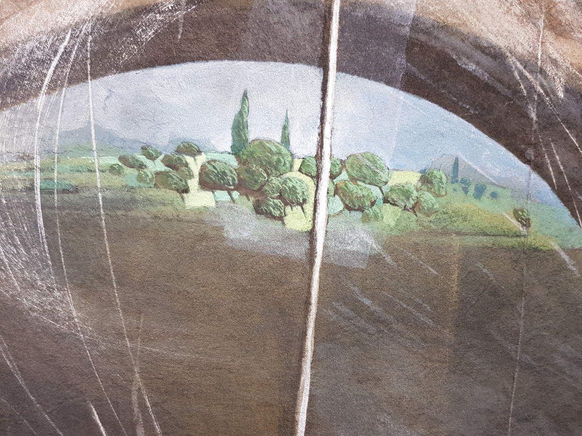 Joseph Maureso - Oeuvre de Roger Maureso à Bages, en face de la Maison Carrère - Toiles de J.Maureso (photos JPB)