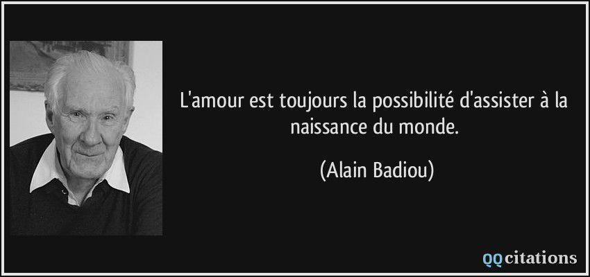 Livre et citations d'A. Badiou