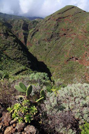 Sur le GR côtier, entre Nogales et San Andres, on croise falaises et gorges dans lesquels il faut descendre... et remonter