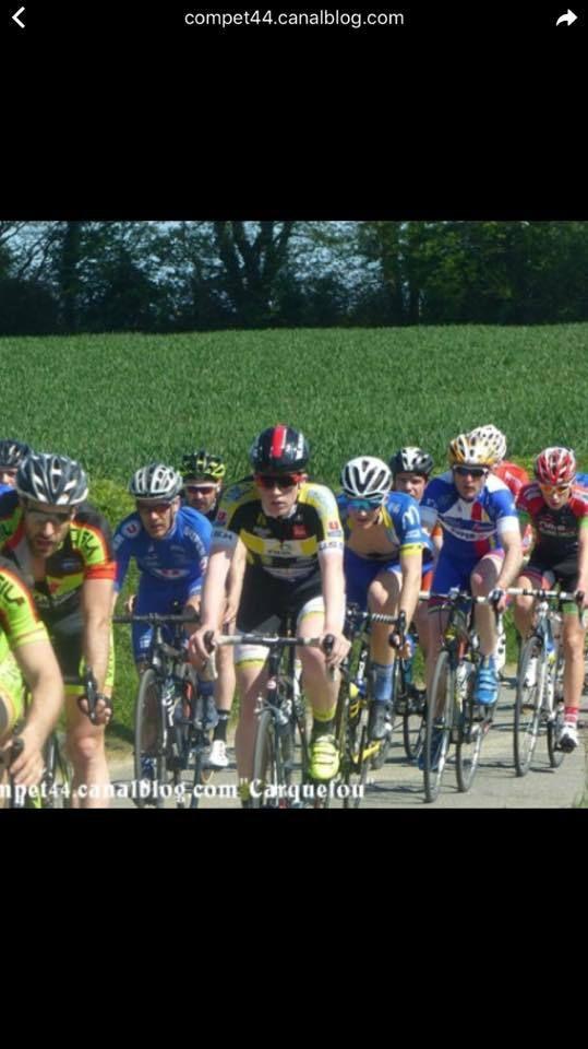 Course en 3ème Caté pour Romain et Jules (dans sa roue)