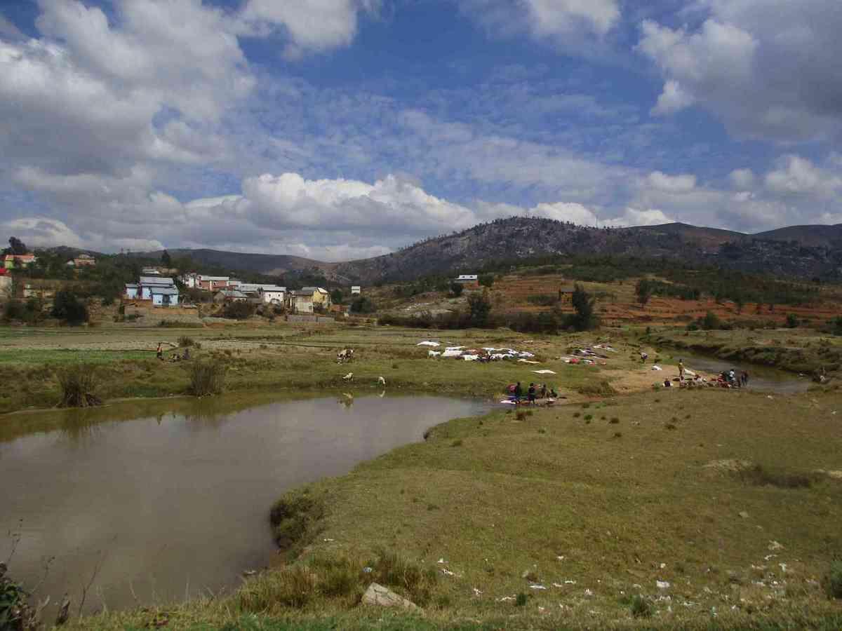 Paysage des hauts plateaux malgaches.