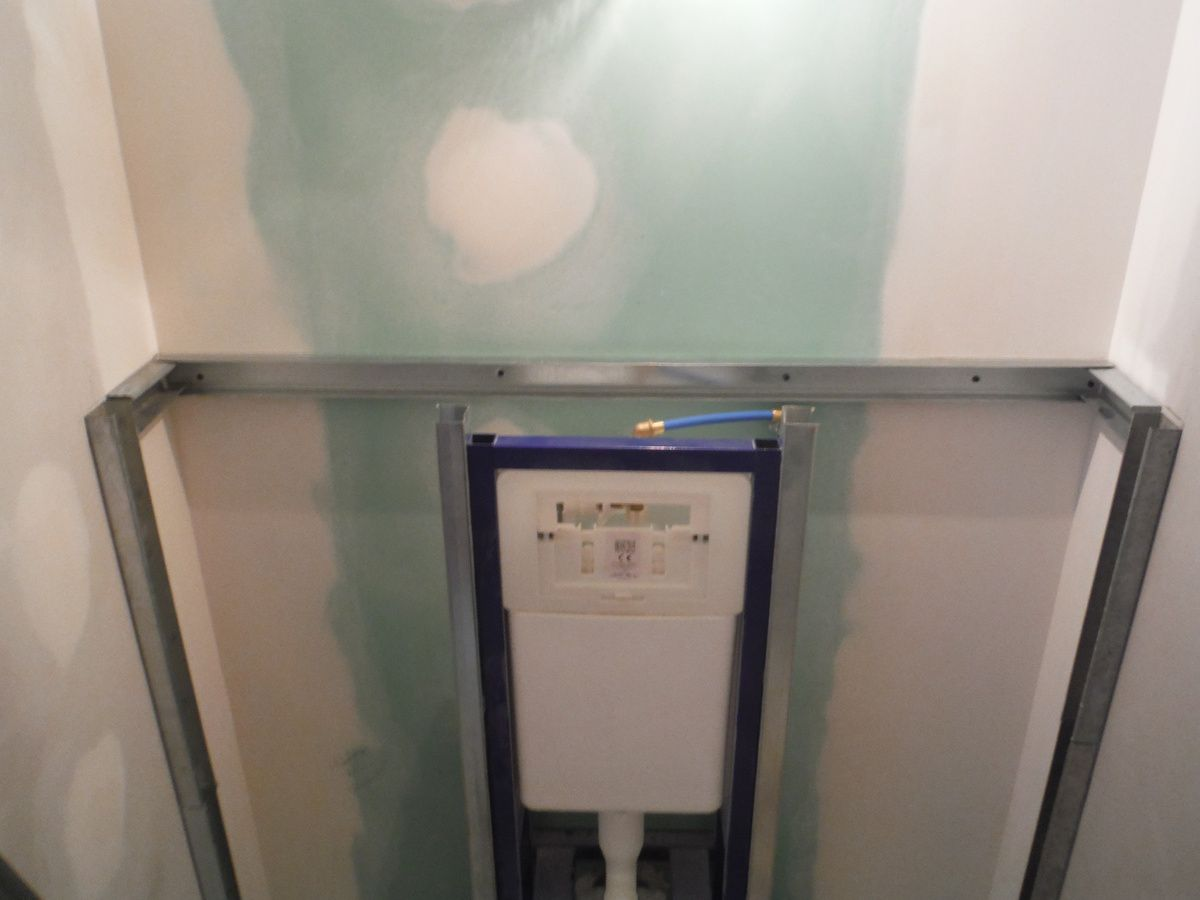 Notice Installation Wc Suspendu Grohe faire le coffrage en placo d'un wc suspendu! - rénover soi