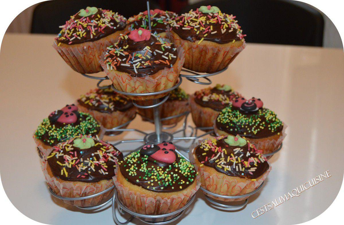 Cupcakes à la ganache au chocolat