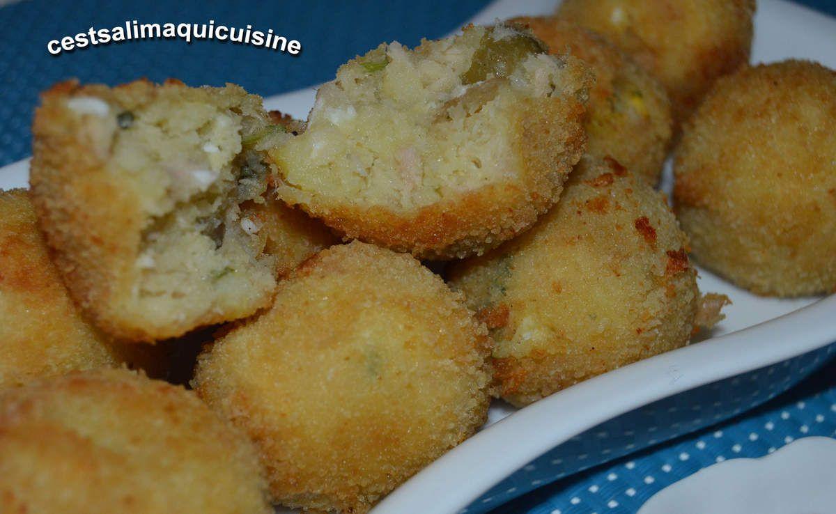 Croquettes de pomme de terre au thon