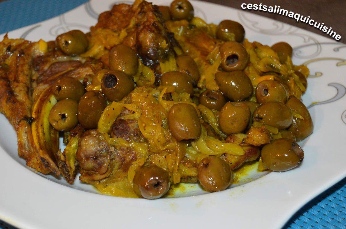 Côtelettes d'agneau aux olives