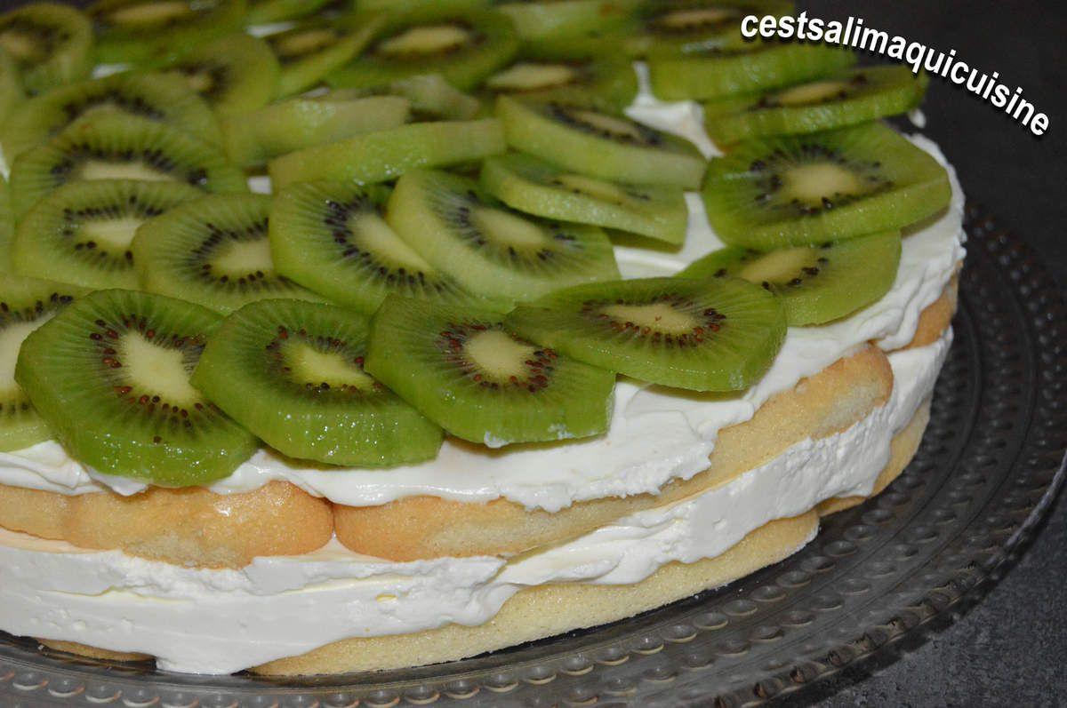 Gâteau aux kiwis façon tiramisu