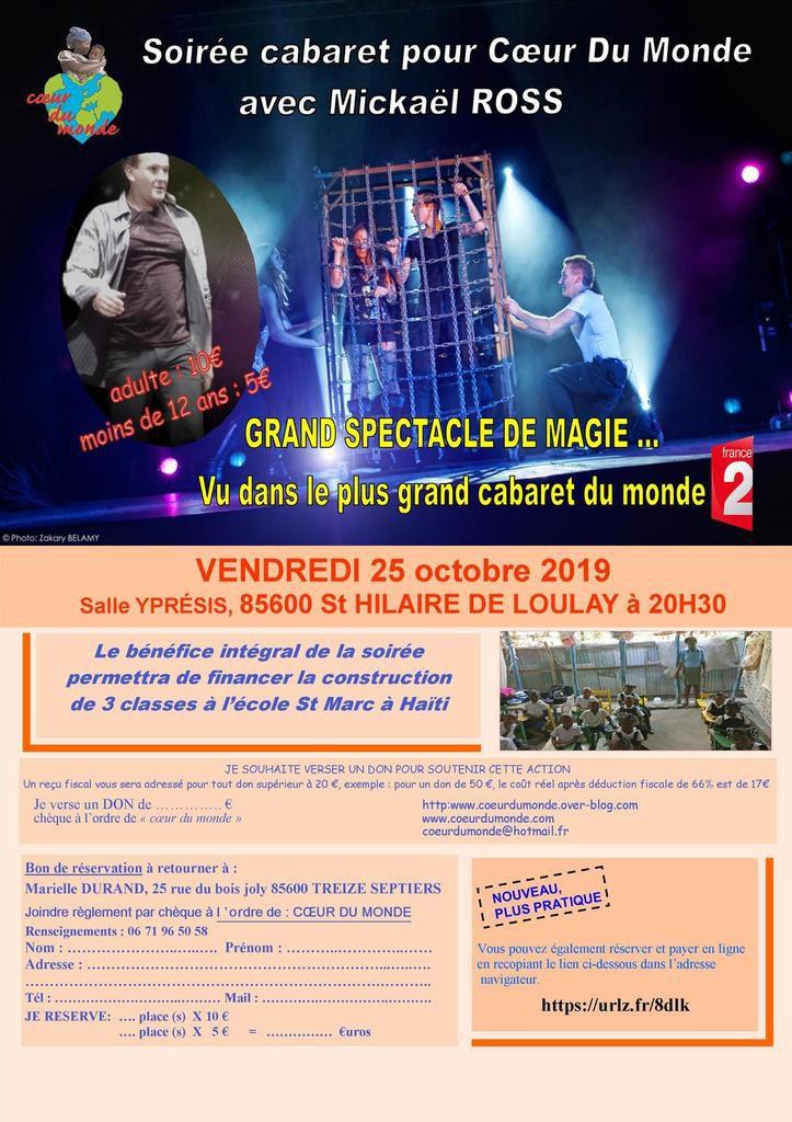 GRANDE SOIRÉE CABARET POUR CŒUR DU MONDE