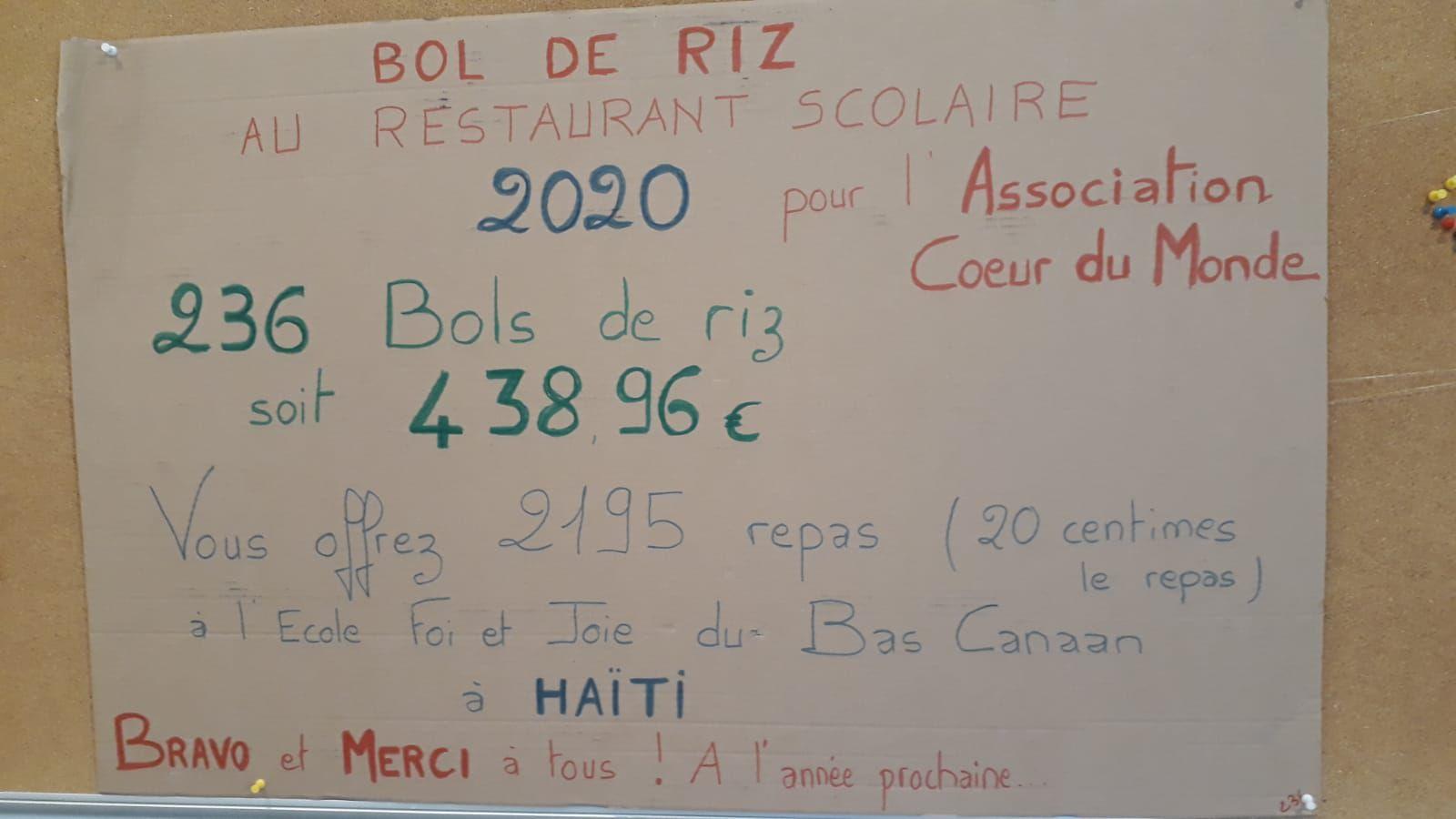 OPERATION BOL DE DE RIZ A TREIZE-SEPTIERS