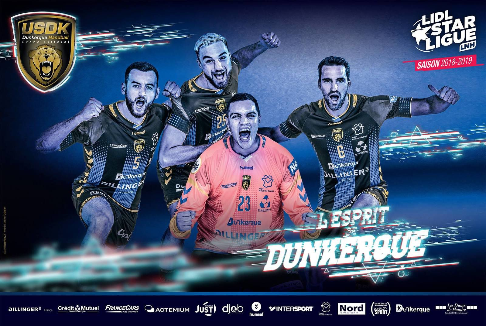Tenue domicile et gardien USDK Handball 2018 2019