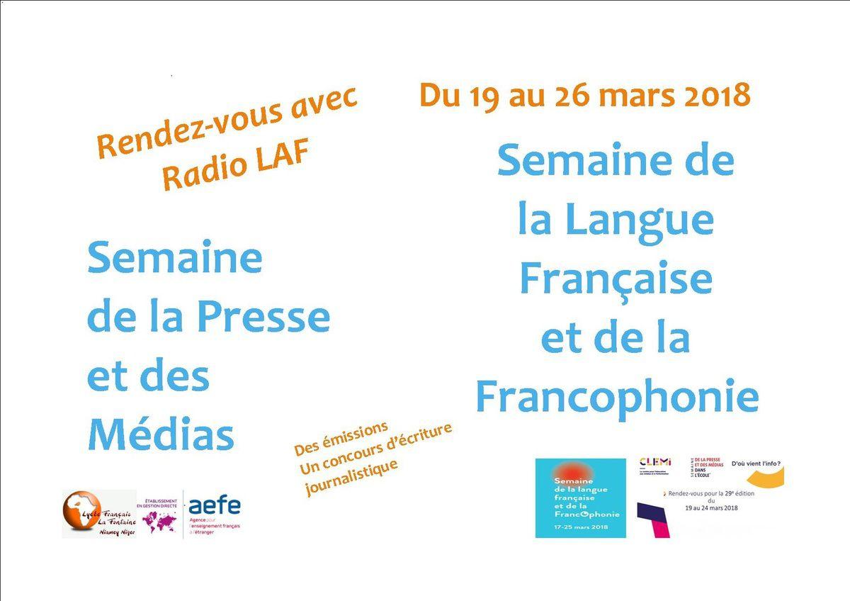 Semaine de la presse et des médias- Semaine de la Langue Française et de la Francophonie