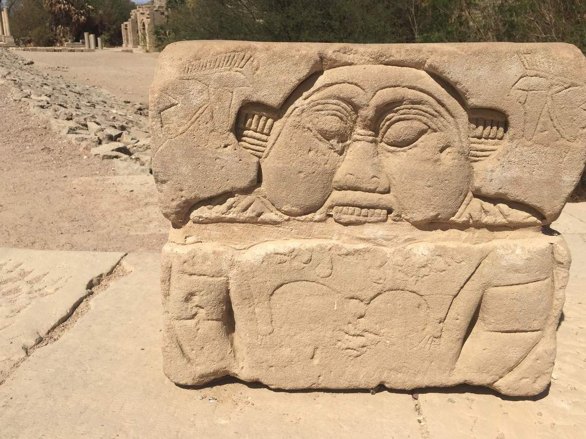 Bes in Hathor temple, waiting for visiting Isis, in Philae temple Aswan