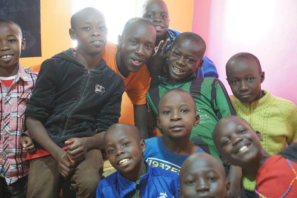 Children at the Raha Kids Center -Les enfants du centre Raha Kids
