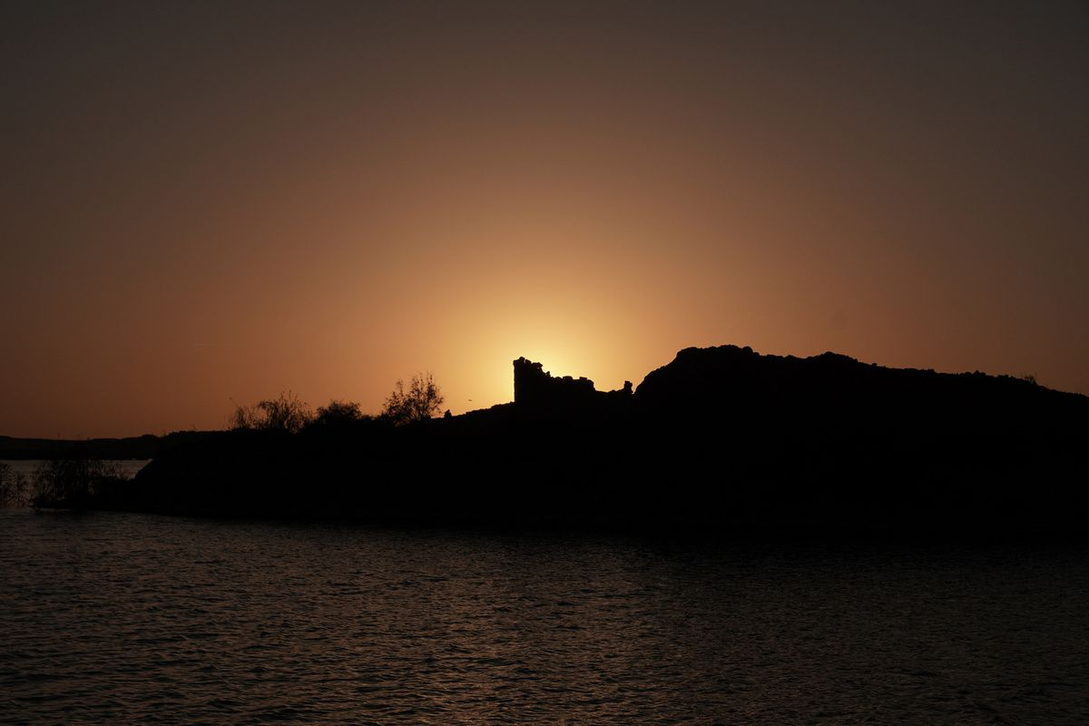 Sunset in Kalabsha Temple, near Aswan