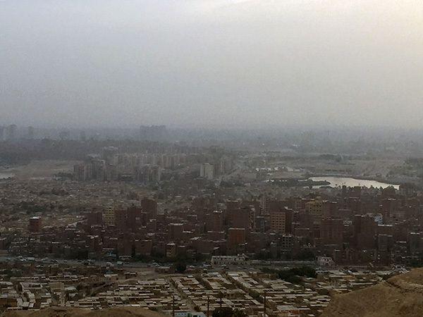 Le Caire, vue du Ciel et de la Corniche à Mokattam