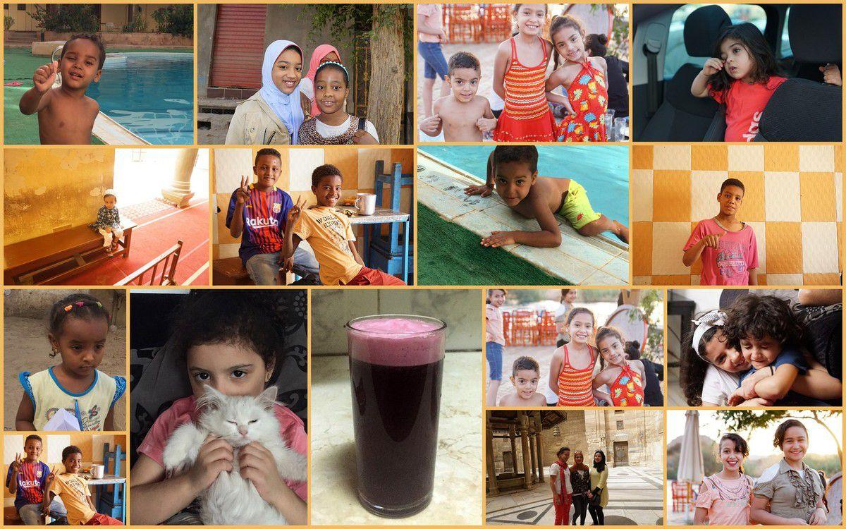 Children from Kom Ombo, Elephantine Island, Aswan, Cairo