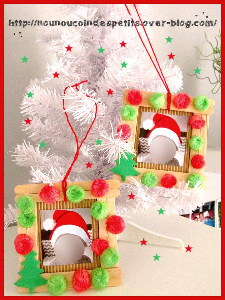Cadre photo noel b ton de glace d co playmais le blog de nounoucoindespetits for Decoration glace