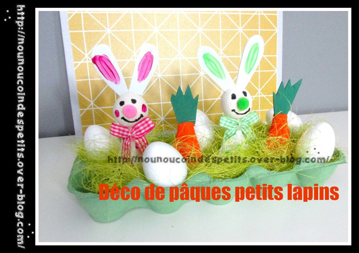 D co de p ques couple de lapin le blog de for Deco de paques