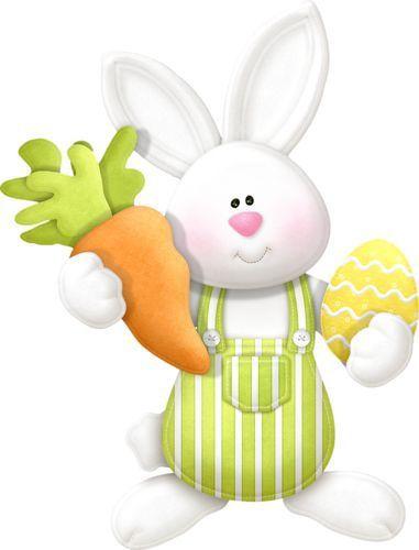 .. Déco de pâques couple de lapin ..
