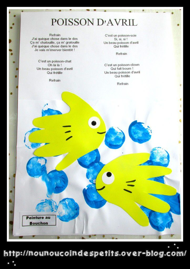.. Comptine poisson d'Avril + illustration ..