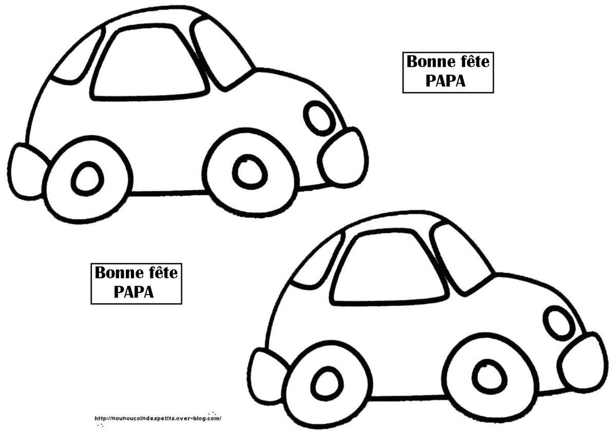 .. Etiquette voiture pour emballage cadeau de PAPA ..