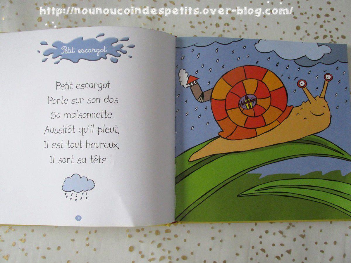 Livre CD de comptine et puzzle escargot .