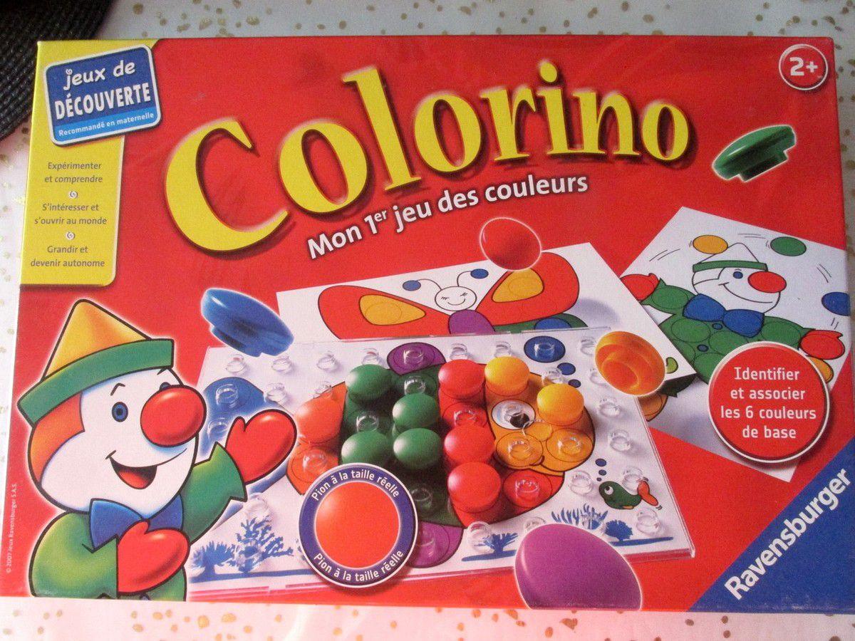 Motricité du jour avec le colorino  les pions de la même couleur sur la même ligne !