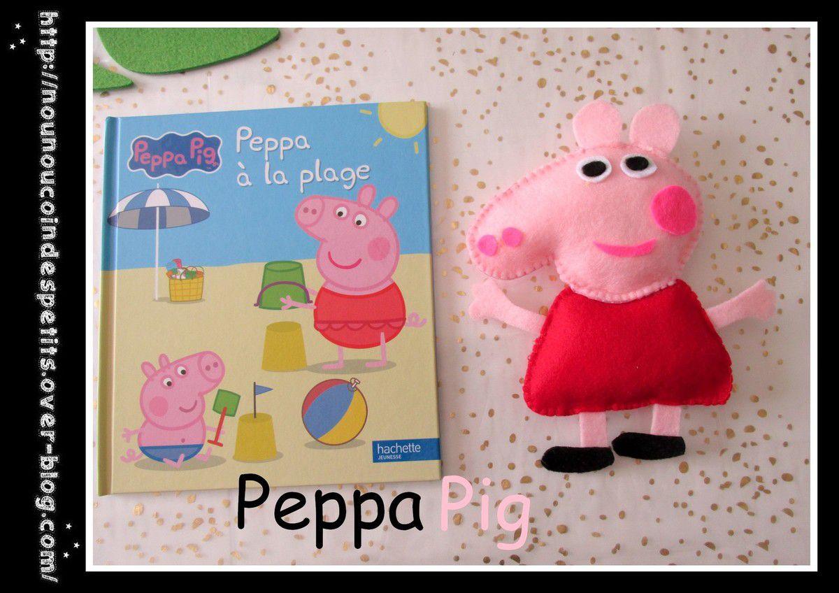 .. Peppa Pig en feutrine ..
