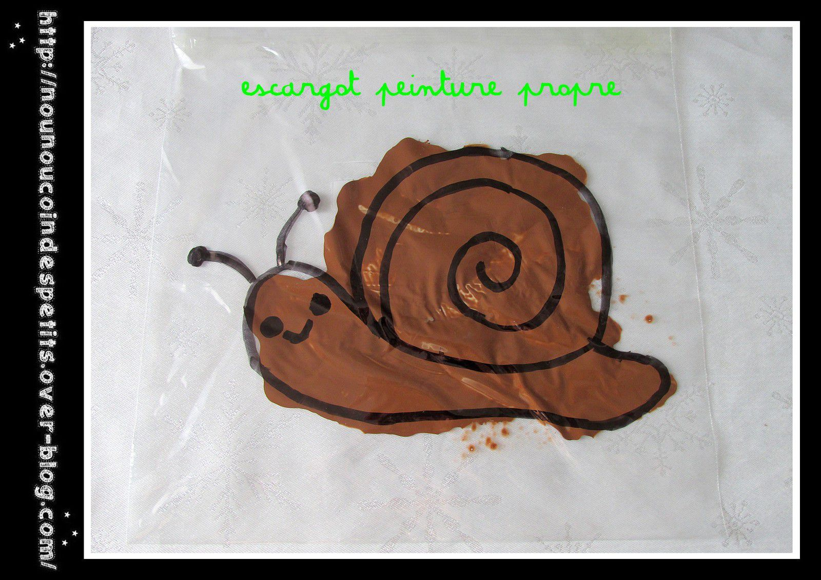 .. Escargot peinture propre ..