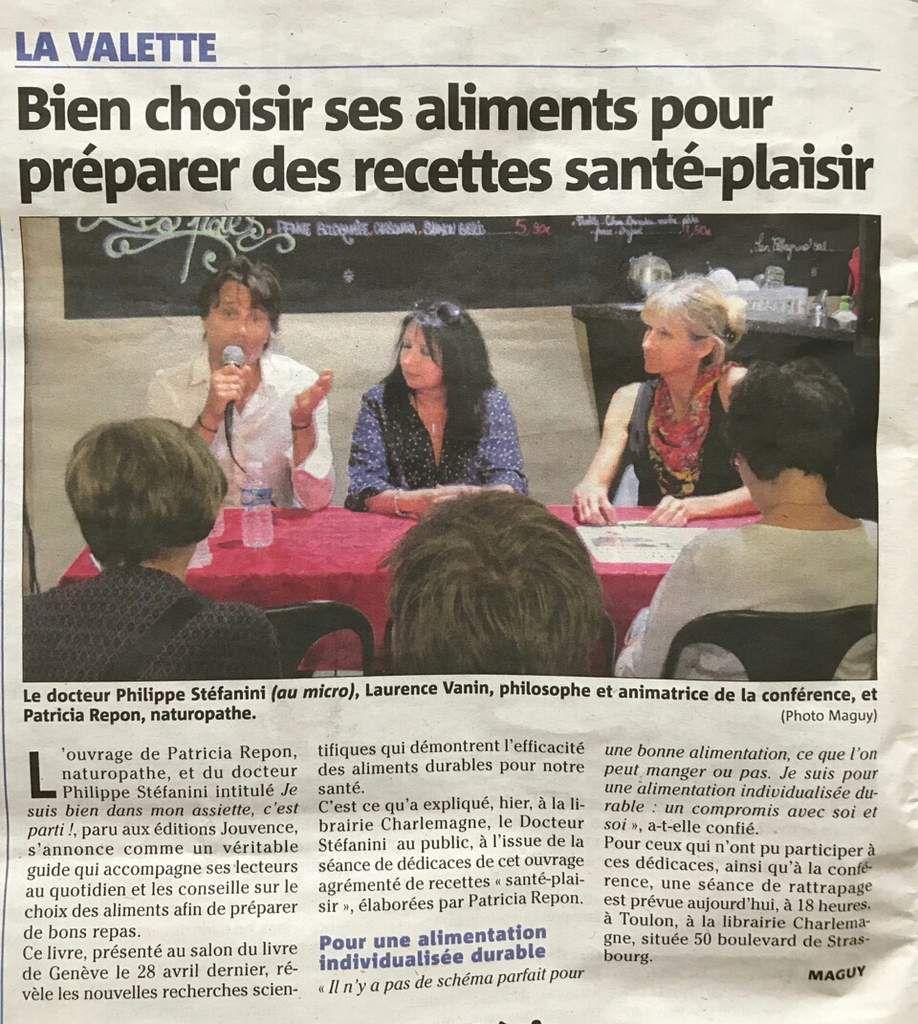 Conférence Charlemagne, Var matin, mai 2017