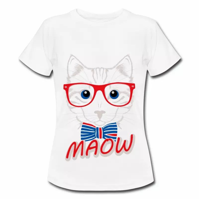 T shirt bleu blanc rouge French cat FBL