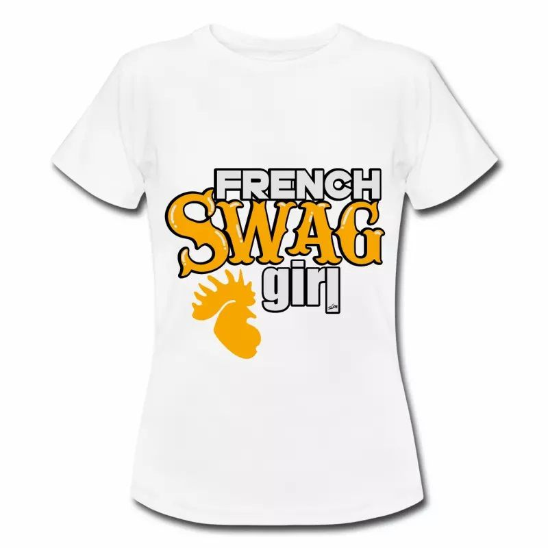 T shirt France French Swag Girl FBL