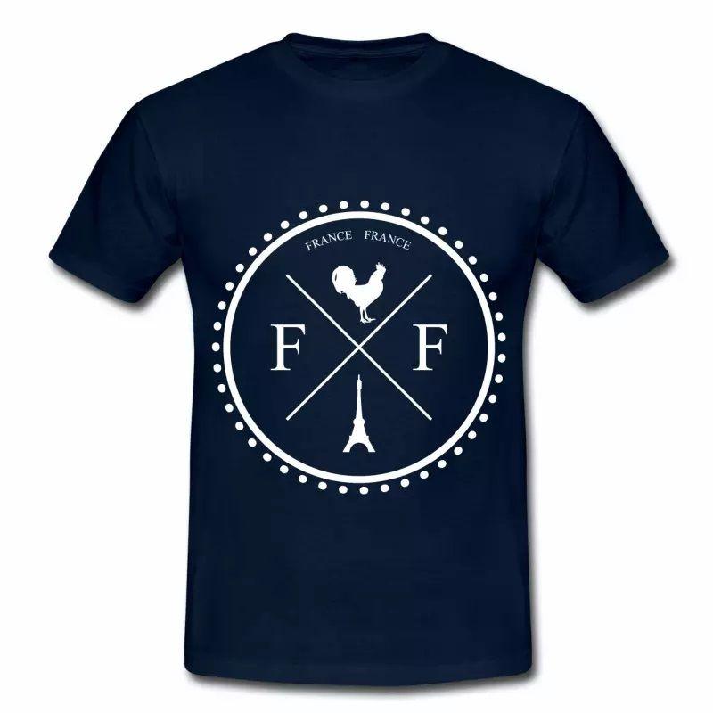 T shirt France Badge Coq et Tour Eiffel HBM